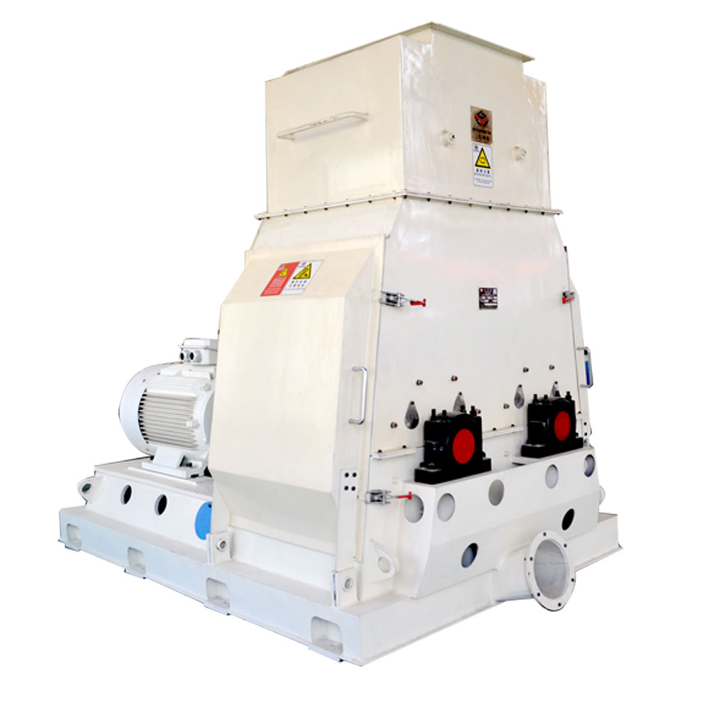 High Efficiency Double Rotor Wood Sawdust Producing Double Rotor Wood Crusher Machine Hammer Mill